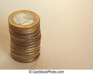 Euro (EUR) coins, European Union (EU) - Pile of Euro (EUR)...