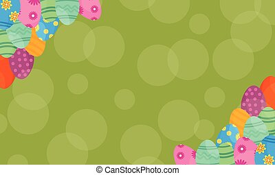 Happy easter with egg backgrounds