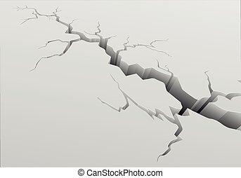 Deep Crack Background - detailed illustration of a crack...
