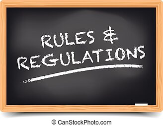Rules And Regulations - detailed illustration of a...