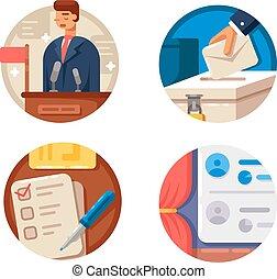 Voting set icons
