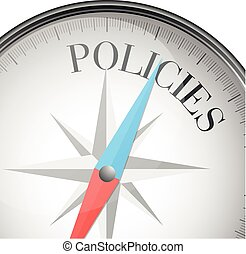 compass concept policies - detailed illustration of a...