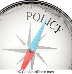 compass concept policy - detailed illustration of a compass...