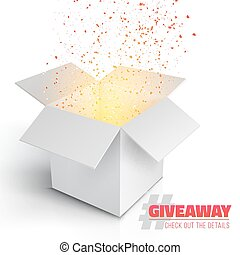 Vector Grey Box Giveaway Competition Template - Illustration...