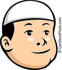 Moslem Kid Boy - Vector cartoon illustration of moslem kid...