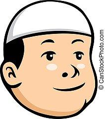 Moslem Kid Boy - Vector cartoon illustration of moslem kid...