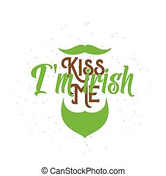 Vector illustration of inspirational cool and fun quote Kiss...
