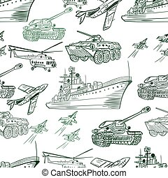 Military Transport Pattern - Seamless army texture with...