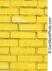gelbe Ziegelsteinmauer, Ziegelsteinee - gelbe...