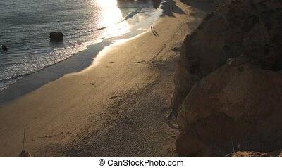 Praia da Rocha in Portimao, Portugal. View from the top of...