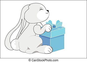 rabbit with a gift