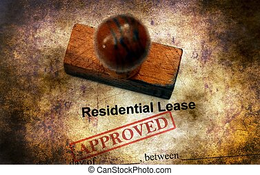 Residential lease agreement approved