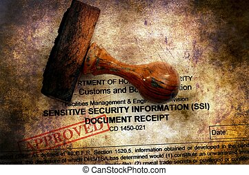 Sensitive security document approved