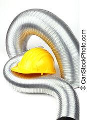 aluminium air tubes - yellow helmet and aluminium air tubes...