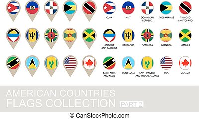 American Countries Flags Collection, Part 2