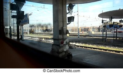 Train departing from Florence main station - View of train...