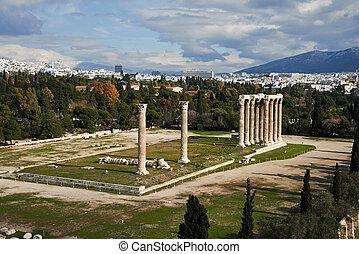 Atenas,  zeus, colunas, Grécia