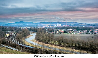 Beskydy mountain timelapse - Czech mountain Beskydy and...
