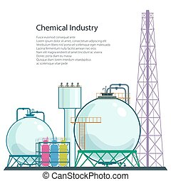 Refinery Processing of Natural Resources Isolated - Chemical...