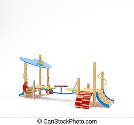 Color children's playground on a white background