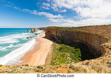 The 12 Apostles - The world famous 12 Apostles along the...
