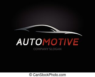 Automotive car logo design with concept sports vehicle...