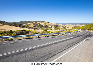 Great Ocean Rd - The winding Great Ocean Rd near Apollo Bay...