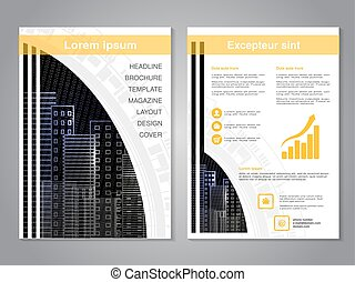 Vector modern brochure. Abstract flyer with background of...