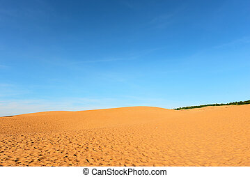 Red sand dunes in Mui Ne, Vietnam.