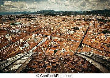 Florence skyline view rooftop
