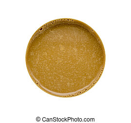 Coffee isolated top view on white