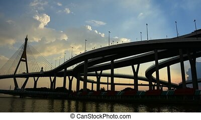 Bhumibol Bridge (Industrial Ring Road Bridge) - Bangkok,...