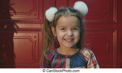 Little Girl Smiling in the Camera.