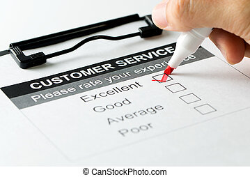 Customer service satisfaction survey form