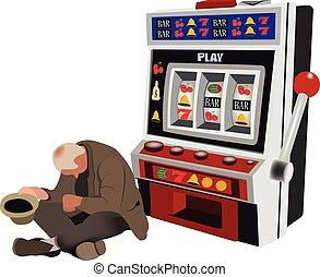 slot machine rischio  del gioco d'azzardo
