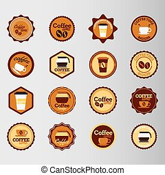 Coffee round stickers