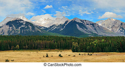 Banff National Park - Landscape panorama of Banff National...
