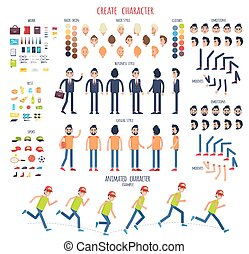 Create Character. Set of Different Body Parts