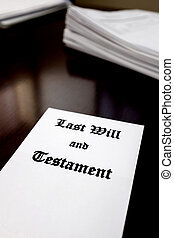 Last Will and Testament on Desk for Estate Planning