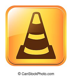 road traffic cone symbol icon image, vectoor illustration