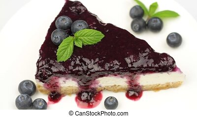 Blueberry cheesecake - ( Manhattan style )