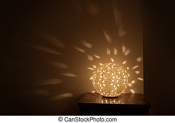 table lamp night light included - yellow Round table lamp...