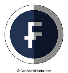 franc currency symbol icon image, vector illustration