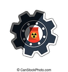 Nuclear energy plant icon vector illustration graphic design