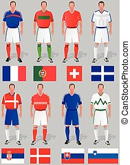 soccer world cup - Teams around the world, the first group...