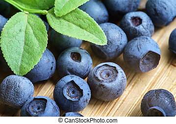 Bilberry Close Up - Freshly Picked Blueberry, Blueberries,...