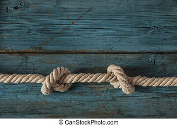 rope knot on wood