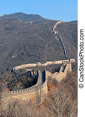 Great Wall in the morning - Great Wall with clear blue sky...