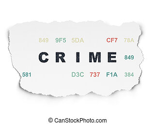 Safety concept: Crime on Torn Paper background - Safety...