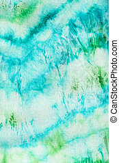 batik with abstract blue and green pattern - textile...